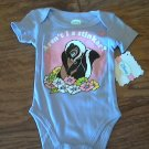 Disney baby girl's purple skunk short sleeve bodysuit size 0-3 mos