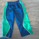 Okie Dokie baby boy's navy and green elastic waist pant size 18-24 mos