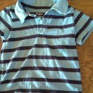 Kidgets baby boy's blue and navy striped short sleeve shirt size 24 mos