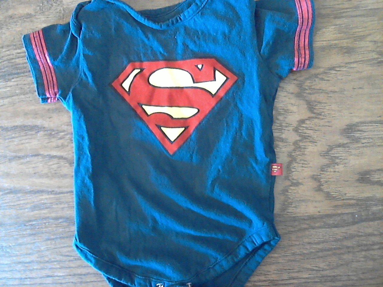 Superman baby boy's navy short sleeve bodysuit size 18 mos