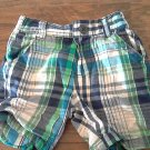 U.S. Polo baby boy's blue,green and off white plaids short size 18 mos