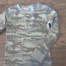 Boy's green camo long sleeve shirt size M (8-10)