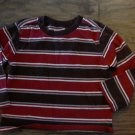 Old Navy boy's red and brown striped long sleeve shirt size 5T