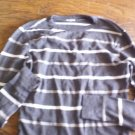Carbon Man's dark grey striped long sleeve shirt size Large