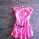 Btween toddler girl's hot pink lined short sleeve dress size 4t