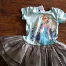 Disney toddler girl's Frozen light blue and silver dress size 4t-5t