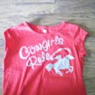 Youth girl's red short sleeve shirt size Large (10/12)