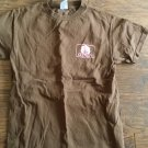 Youth girl's brown short sleeve shirt size small