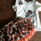 Pogo Club girls brown top skirt set size 7-8