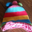 The Children's Place girls red, pink, yellow, blue knitted hat size 3t-4t
