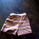 4T girl's pink and yellow stripe waistband short
