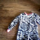Joe Boxer girls black and white zebra sleepwear size 4t/5t