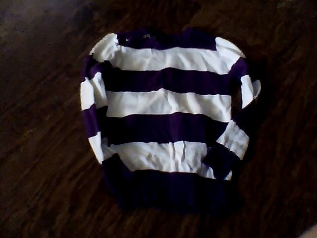 Jordache girls purple stripe long sleeve shirt xs (4t-5t)