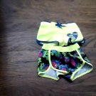 2 piece OP toddler girl's yellow and black boardshort size 4t-5t