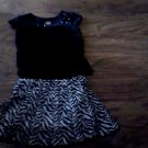 Faded Glory toddler girl's black top skirt size 4t-5t