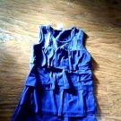 Toddler girl's navy sleeveless ruffles top size 4t/5t