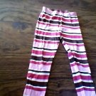 Gymboree girl's brown, red , white striped pant size 5t