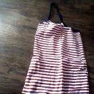 Faded Glory toddler girl's red n white striped dress size 5t