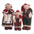 3 PC Festive Santa Bear Family