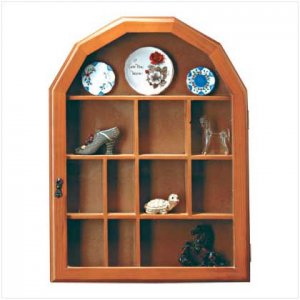 Wooden Wall Curio  Display Case