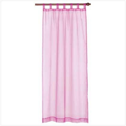 Pink Organza Tab Top Curtain