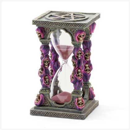 Purple Grim Reaper Hourglass