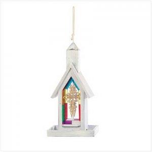 White Wood Church Birdfeeder