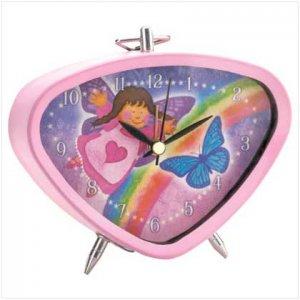 Pink Angel Clock