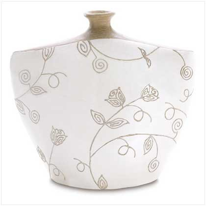 """Ivory """"Eva"""" Vase"""