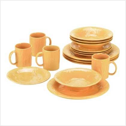 Golden Autumn Dinnerware - 16Pc