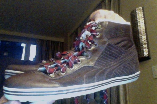 puma high-top sneakers 11 brown new