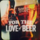 sam adams brewery for the love of beer coaster
