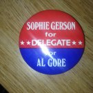 al gore for delegate 1984 pin