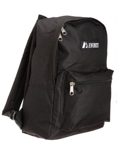everest basic black backpack