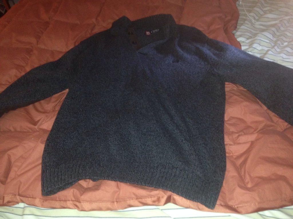 Chaps gray sweatshirts size L