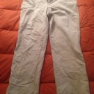 Lands end traditional fit white pants 34w