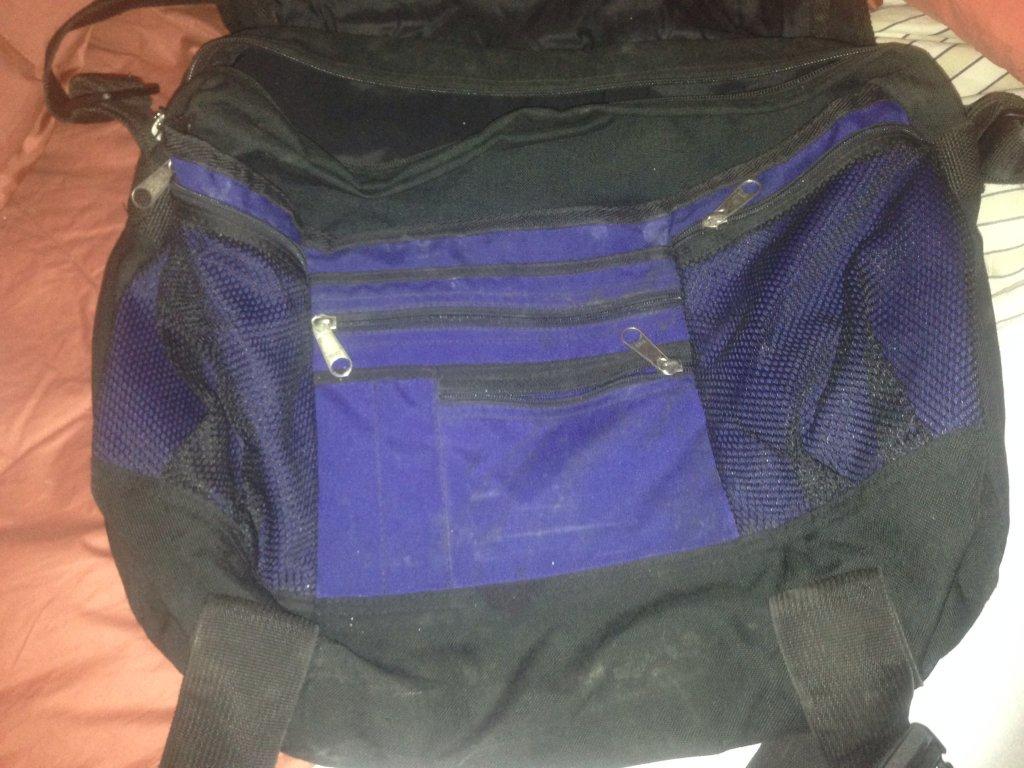 trager used blue backpack