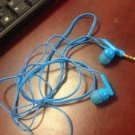 blue ear bud headphones