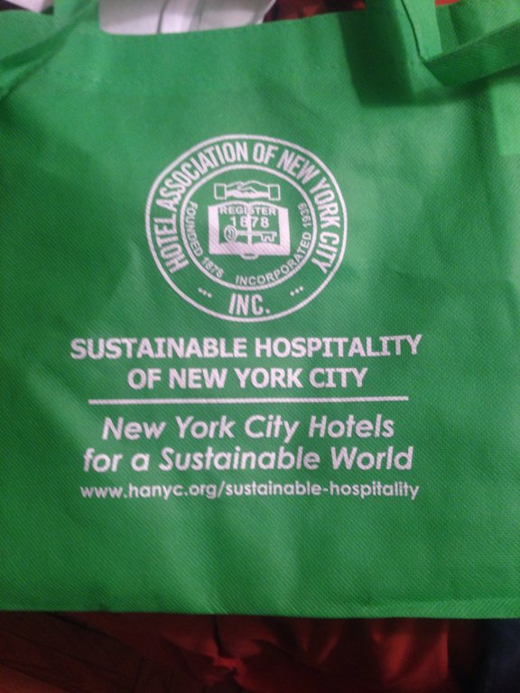 NYC hotels association tote bag