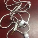 white ear bud headphones