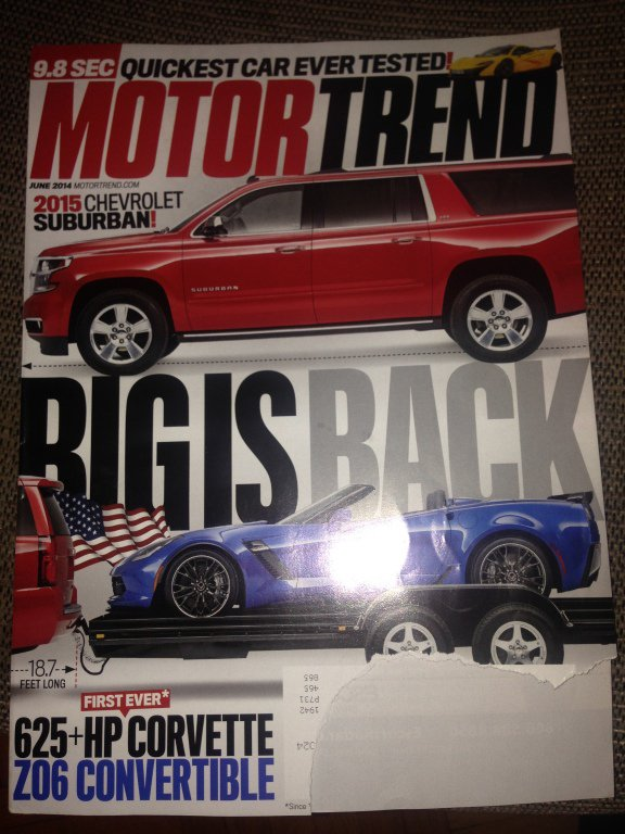 Motor Trend magazine, March 2014