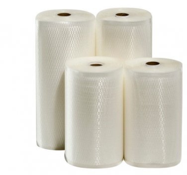 "4 Giant Rolls! 2 8"" X 50' & 2 11"" X 50' Vacuum Sealer Bags! Free SAME DAY ship!"