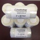 8 Embossed 4 MIL 8x50 Rolls Food Storage Vacuum Sealer Bags! 400 FT= Food SAVER!