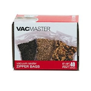 80 ZIPPER Vacmaster 6x10 PINT Vacuum Sealers Bags! Free SAME DAY Shipping!