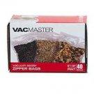 "40 ZIPPER Vacmaster 6"" x 10"" PINT Vacuum Sealers Bags! Free USA shipping!!"