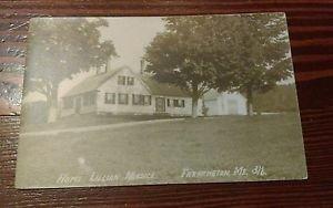 Real Photo Postcard, Home of Lillian Nordica, Farmington, ME,