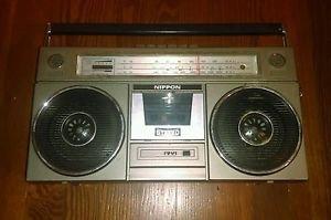 Ultra Rare Vintage Nippon Boombox SW MW CASSETTE / RADIO MODEL FS-5500 Japan 220