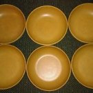 Vtg FlLingers Agatized Wood Inc Lot 6 Round Bowls Farmhouse Sheboygan Wis EUC