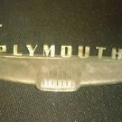 Chrome 1952 Plymouth Trunk Handle License Plate trim Emblem PLYAT