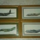 Lot 4  framed plane prints LOCKHEED USAF AC-130H Spectre Gunship F-4E  Phantom 2